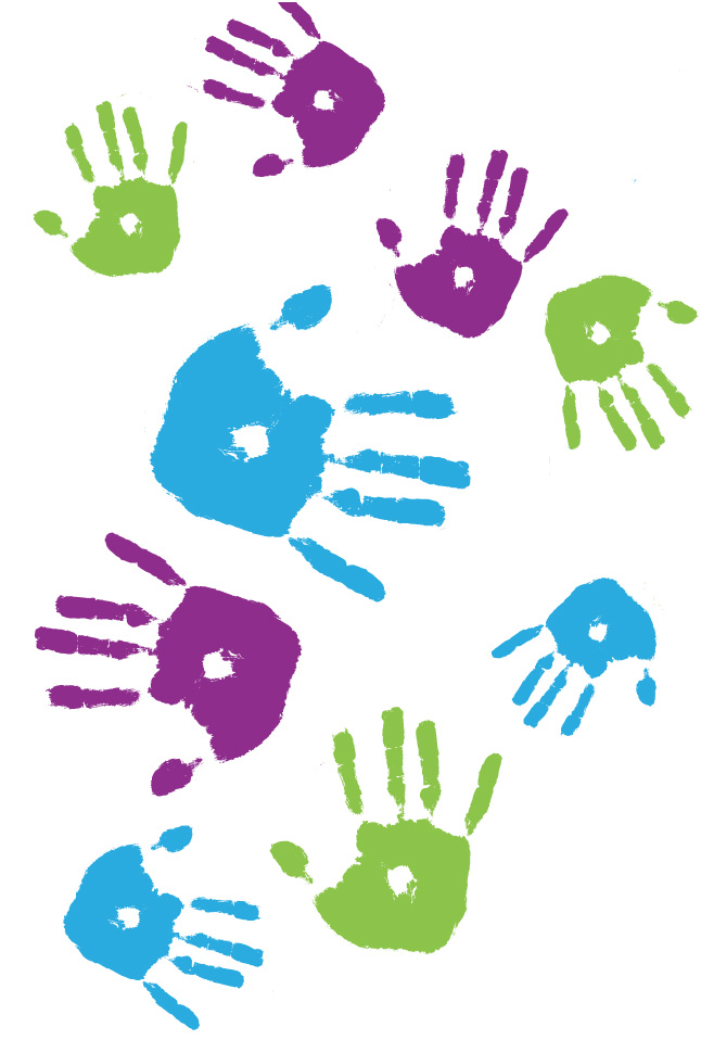 Hand prints - colour